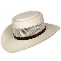 Dallas Hats Gambler1 Canvas Straw Hat