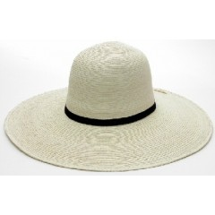 "SunBody Hats Palm Leaf Open Crown 5"" Brim Shape It Hat"