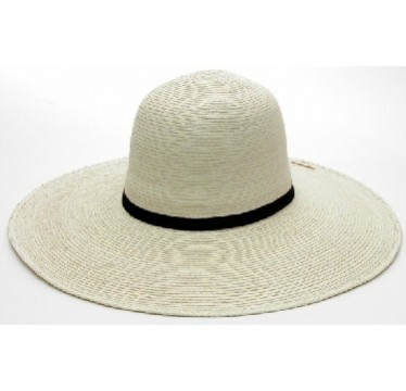 "SunBody Hats Palm Leaf Open Crown 4.5"" Brim Shape It Cowboy Hat"