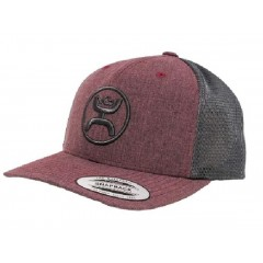 HOOey Cody Ohl Burgundy Grey Snap Back Cowboy Hat
