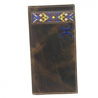 HOOey Signature Chocolate Brown With Beading Rodeo Wallet