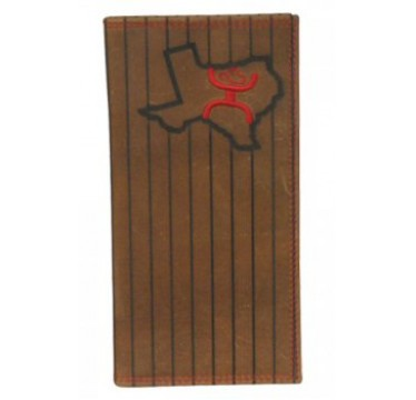 HOOey Signature Brown and Red Texas Rodeo Wallet