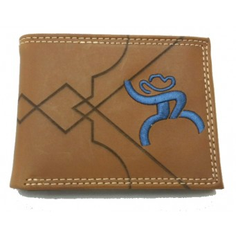 HOOey Roughy  Brown Bi-Fold Wallet