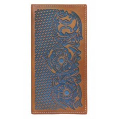 HOOey Signature Tooled Rodeo Wallet With Blue Wash