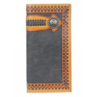 HOOey Signature Distressed Brown with Lacing Detail Rodeo Wallet