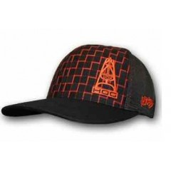 HOOey Hog Orange and Black Plaid Mesh Back Cap