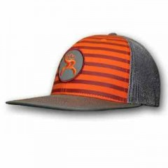 HOOey Youth Orange, Gray, and maroon Roughy Snap Back Cap