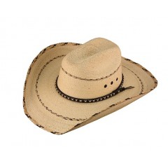 "Kenny Chesney Crease Hat Biz Cowboy Hat 4"" Brim Palm Straw Cowboy Hat"