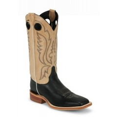 Bent Rail by Justin Cowboy Boots Stillwater Black Mens Cowboy Boots