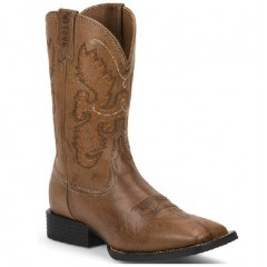 Justin Boots Burnished Brown Farm & Ranch Cowboy Boots