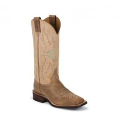 Bent Rail by Justin Cowboy Boots Camel Ladies Cowboy Boots