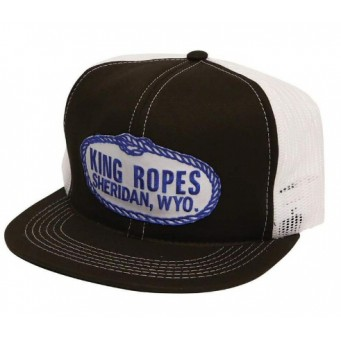 King Ropes Cap Black and White Mesh Back Trucker Cap