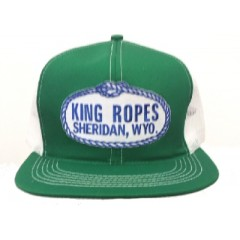 King Ropes Cap Green and White Mesh Back Trucker Cap