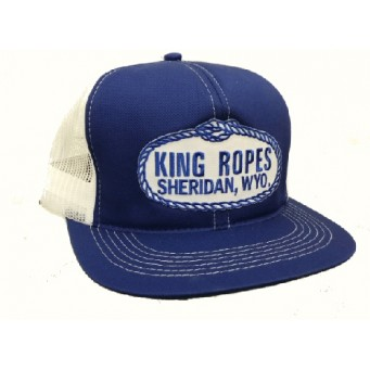 King Ropes Cap Royal Blue Mesh Back Trucker Cap