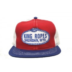 King Ropes Cap Red White & Blue Mesh Back Trucker Cap