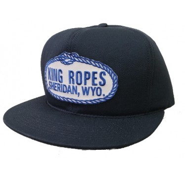 King Ropes Cap  Navy Cotton Snapback Trucker Cap