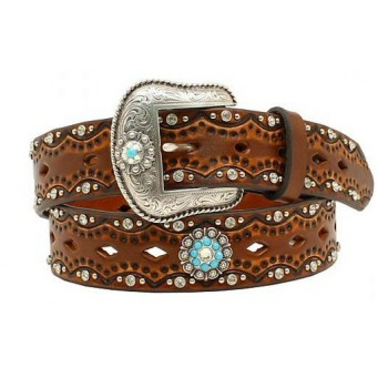 Ariat Diamond Concho Turquoise Stone Ladies Belt