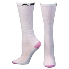 Ariat by M&F Western Products White and Pink Over the Calf Ladies Socks