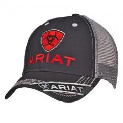 Ariat Black and Grey Adjustable Cowboy Cap