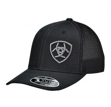 Ariat Black Snap Back Cowboy Cap