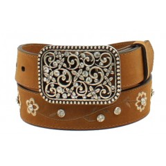 Ariat Floral Embroidered Girls Fashion Belt