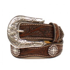 Ariat Silver Concho Girls Fashion Belt