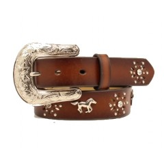 Ariat Horse and Horseshoe Concho Girls Western Belt