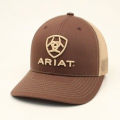 Ariat Brown and Tan Snapback Cowboy Cap