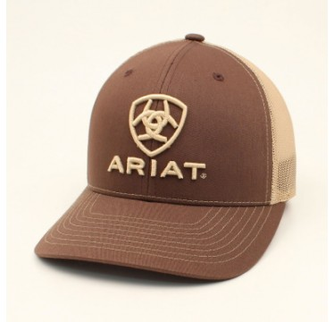 Ariat Brown and Tan Snapback Cowboy Cap
