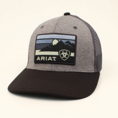 Ariat Black and Grey Snapback Cowboy Cap