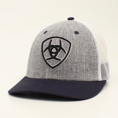 Ariat Grey and Navy Snapback Cowboy Cap