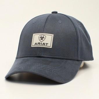 Ariat Navy Oilskin Snapback Cowboy Cap