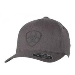 Ariat Charcoal Grey Flexfit Cowboy Cap