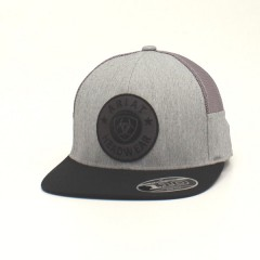 Ariat Grey and Black Flex Fit Cowboy Cap