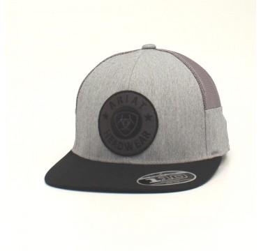 Ariat Grey and Black Flex Fit Cowboy Cap