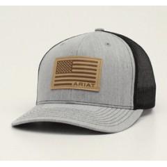 Ariat Grey Snap Back Cowboy Cap