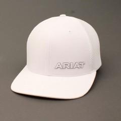 Ariat White Snap Back Cowboy Cap