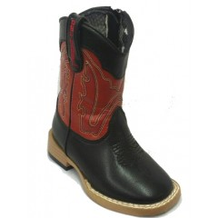 M&F Double Barrel Trailboss Red Black Kids Boots