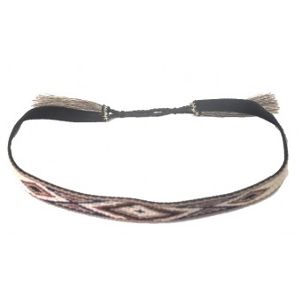 M&F  Multicolored Natural Color Horse Hair Tassel Hatband