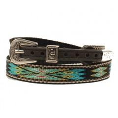 Twister Southwestern Multi-Colored Ribbon Black Hat Band