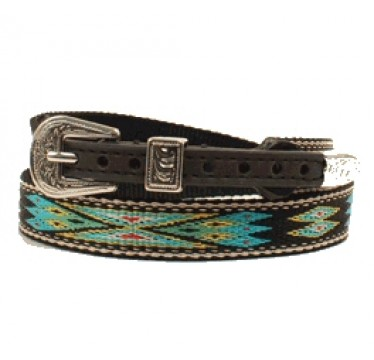 Twister Southwestern Multi-Colored Ribbon Black Hat Band