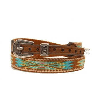 Twister Southwestern Multi-Colored Ribbon Brown Hat Band