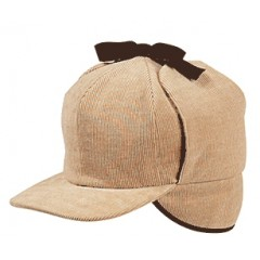 Elmer Fudd Tan Corduroy Cold Weather Cap
