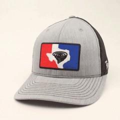 Twister Grey Snapback Cowboy Cap