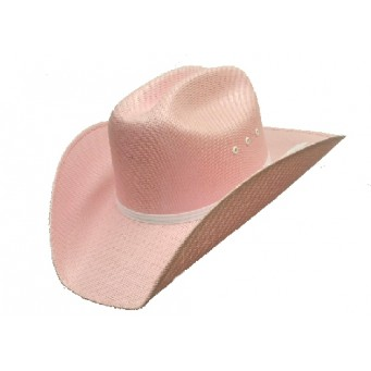 Double S Pink Canvas Youth Cowboy Hat