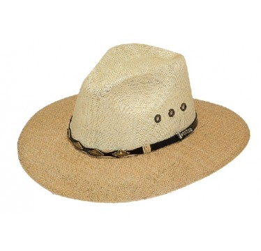 Twister Jute Two Tone Pinched Front Crown Casual Straw Hat