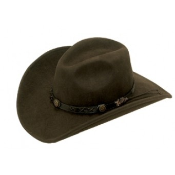 Twister Dakota 100% Wool Crushable Cowboy Hat In Brown