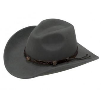 Twister Dakota 100% Wool Crushable Cowboy Hat In Graphite