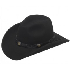 Twister Dakota 100% Wool Kids Crushable Cowboy Hat In Black