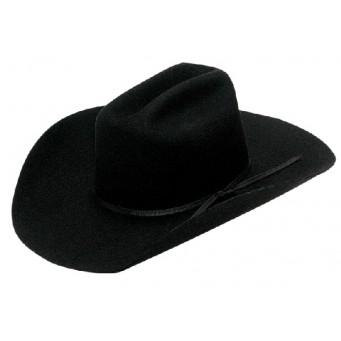 """Twister Kids Black Cattleman Crown 4"""" Brim Felt Cowboy Hat"""